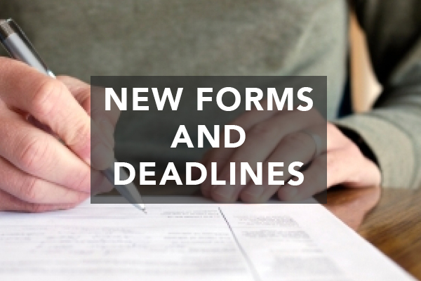New Forms & Deadlines for Business Owners